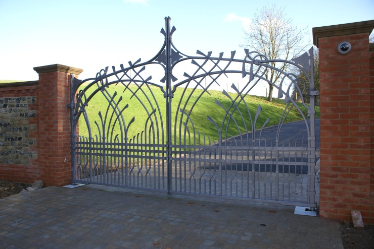 Blacksmith, Hand forged, Design, Ironwork, Forge, Wrought Ironwork, Hot Forged, Blacksmithing, Entrance Gates, Wrought Iron Gates, Designed Gates