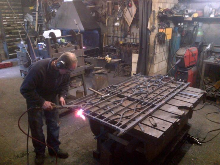 Forging a gate.