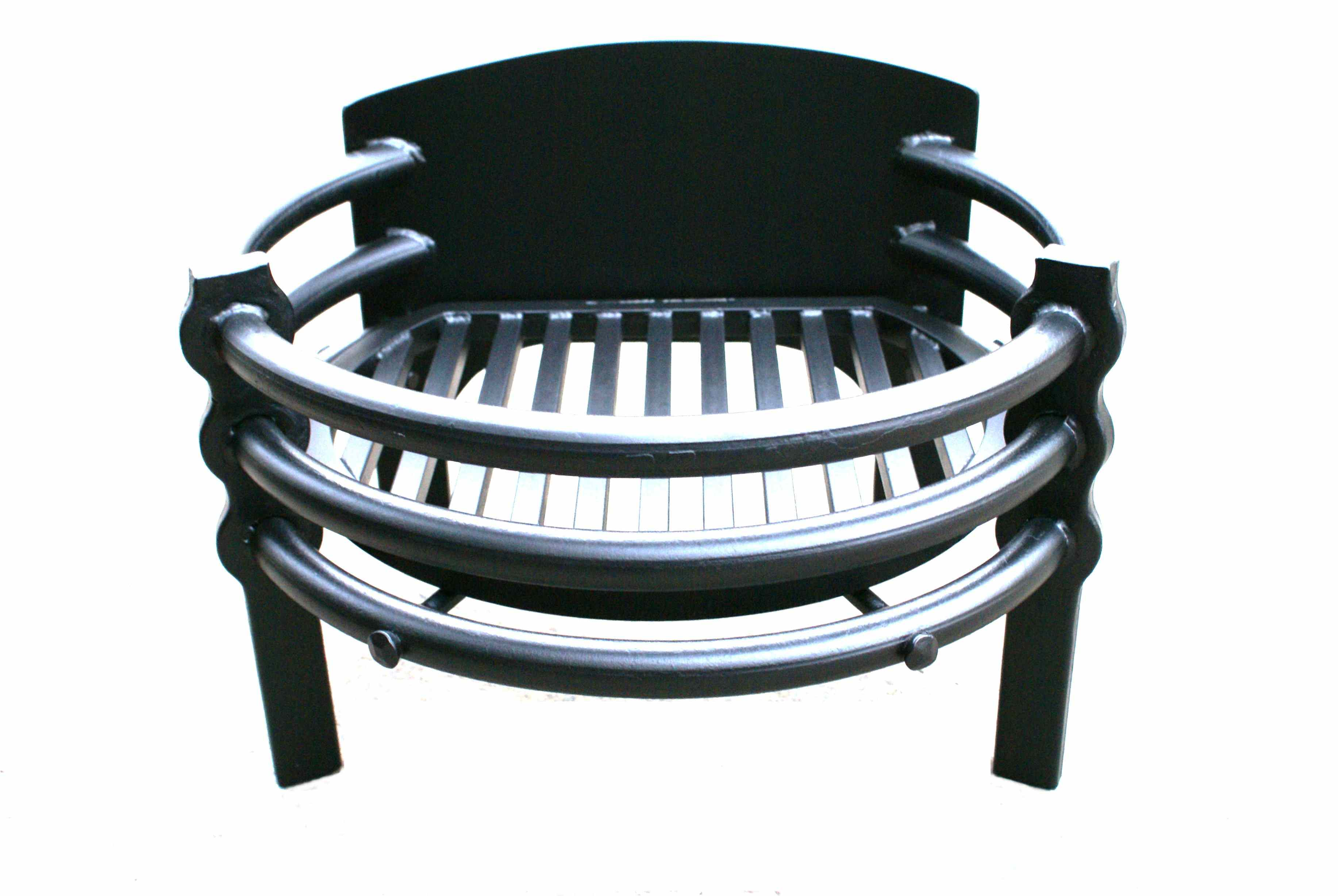 fire furniture  burrows lea forge  hand forged ironwork - contemporary designed free standing fire basket