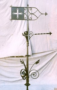 Blacksmith, Hand forged, Design, Ironwork, Forge, Wrought Ironwork, Hot Forged, Blacksmithing, Weathervane, Ecclesiastical weathervane, Burrows Lea Forge, Nick Bates