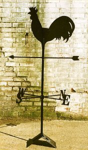 Blacksmith, Hand forged, Design, Ironwork, Forge, Wrought Ironwork, Hot Forged, Blacksmithing, Weathervane, Cockerel weathervane, Burrows Lea Forge, Nick Bates