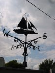 Blacksmith, Hand forged, Design, Ironwork, Forge, Wrought Ironwork, Hot Forged, Blacksmithing, Weathervane, Yacht weathervane, Burrows Lea Forge, Nick Bates