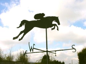 Blacksmith, Hand forged, Design, Ironwork, Forge, Wrought Ironwork, Hot Forged, Blacksmithing, Weathervane, Racehorse weathervane, Burrows Lea Forge, Nick Bates