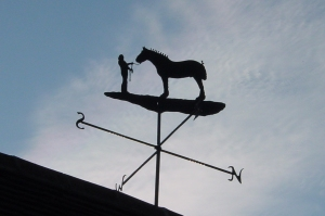 Blacksmith, Hand forged, Design, Ironwork, Forge, Wrought Ironwork, Hot Forged, Blacksmithing, Weathervane, Heavy Horse weathervane, Burrows Lea Forge, Nick Bates