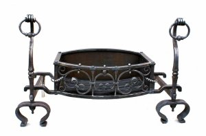 Fire Dogs, Basket, Grate, Fire Grate, Blacksmith, Hand forged, Design, Ironwork, Forge, Wrought Ironwork, Hot Forged, Blacksmithing